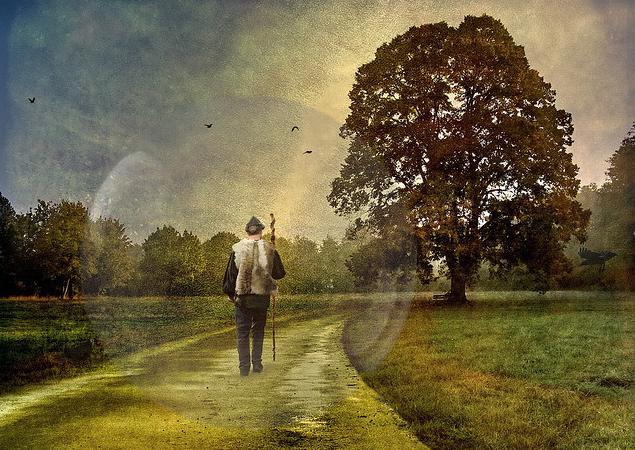 man-on-a-path